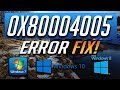 How to fix the 1-80004005 Error Code for FSX - YouTube