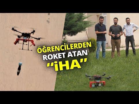 Öğrenciler, Bitirme Tezi Olacak Roket Atan 'İHA' Yaptı