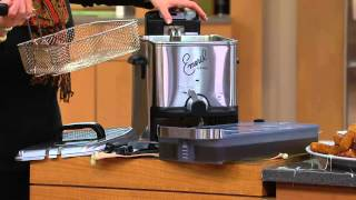 Emeril by T-Fal 3.3L Stainless Steel Deep Fryer with Oil Filtration with Mary Beth Roe