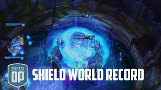 the 13628 damage soaking shield the biggest shield ever league of legends world records