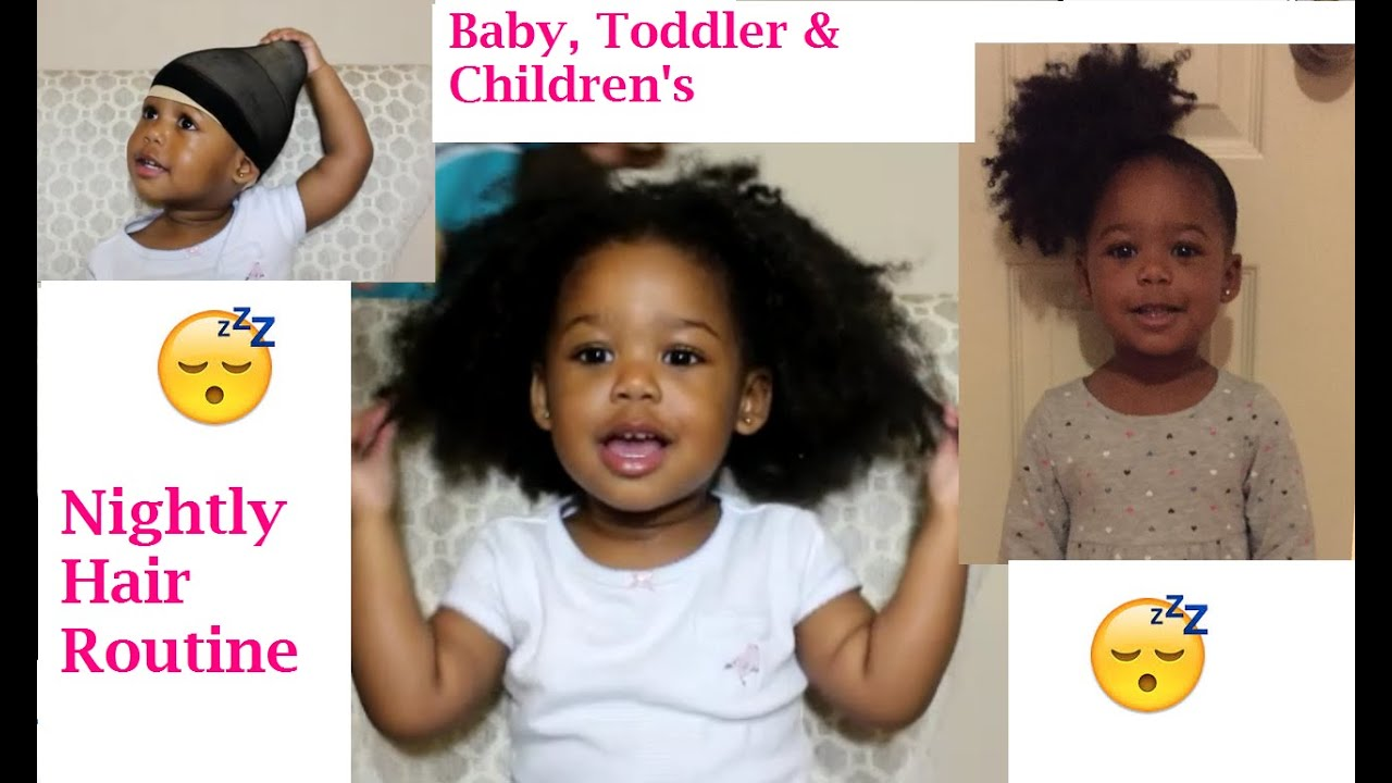 How to Style Baby | Toddler Hair BEFORE bed & keep it NEAT ...