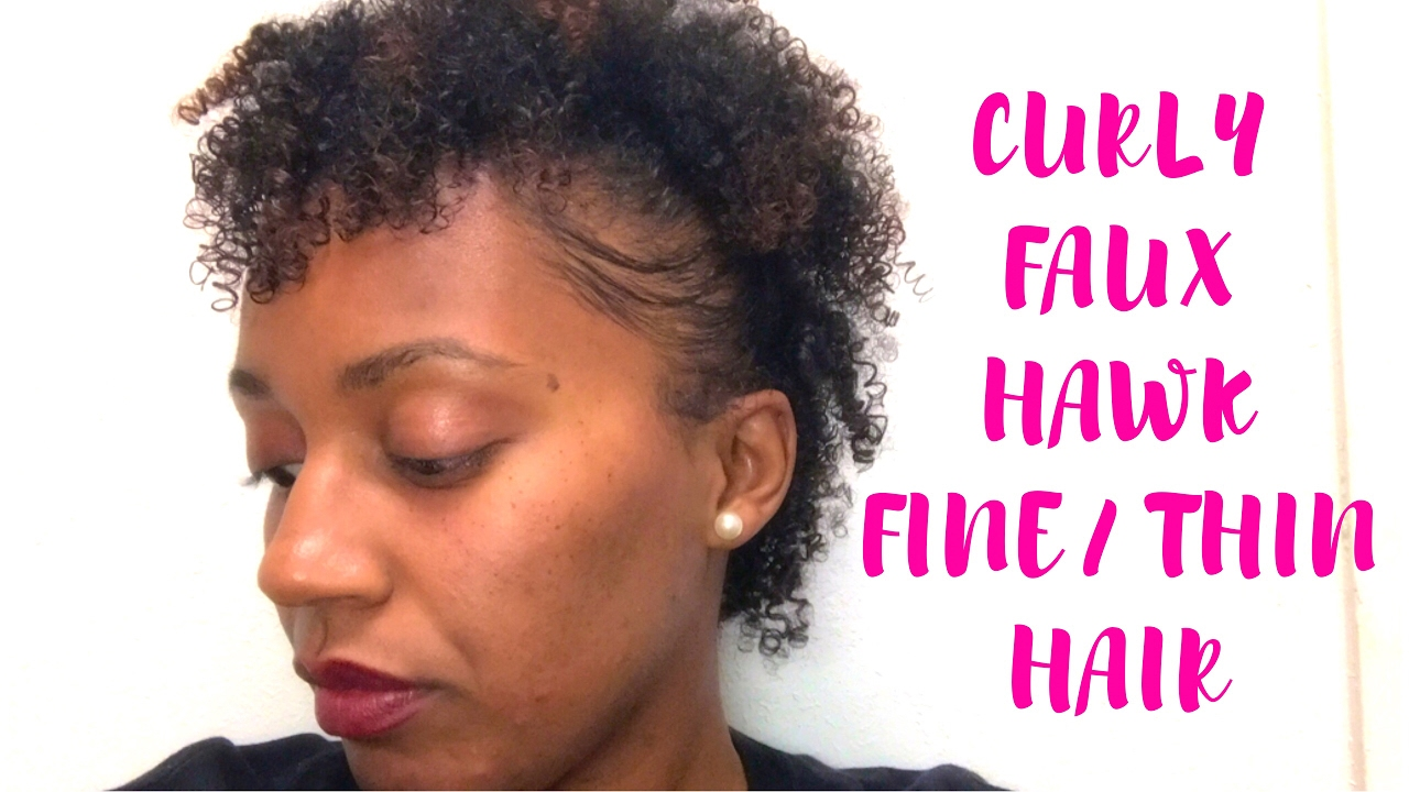 HOW TO: Curly Faux Hawk on FINE/THIN LOW DENSITY NATURAL HAIR | Featuring  DevaCurl B'Leave-In