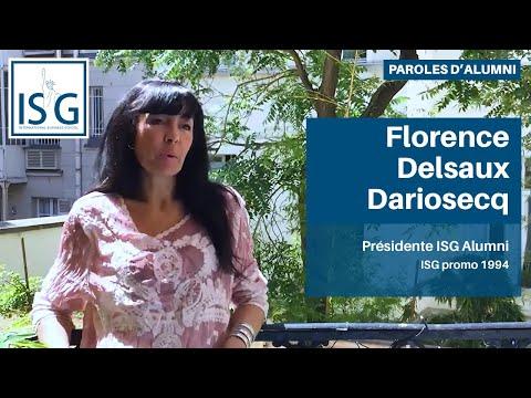 3 questions à Florence Delsaux Dariosecq - ISG Promo 1994 - Présidente ISG Alumni