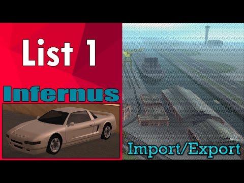 GTA San Andreas - Import/Export (List 1) - Infernus