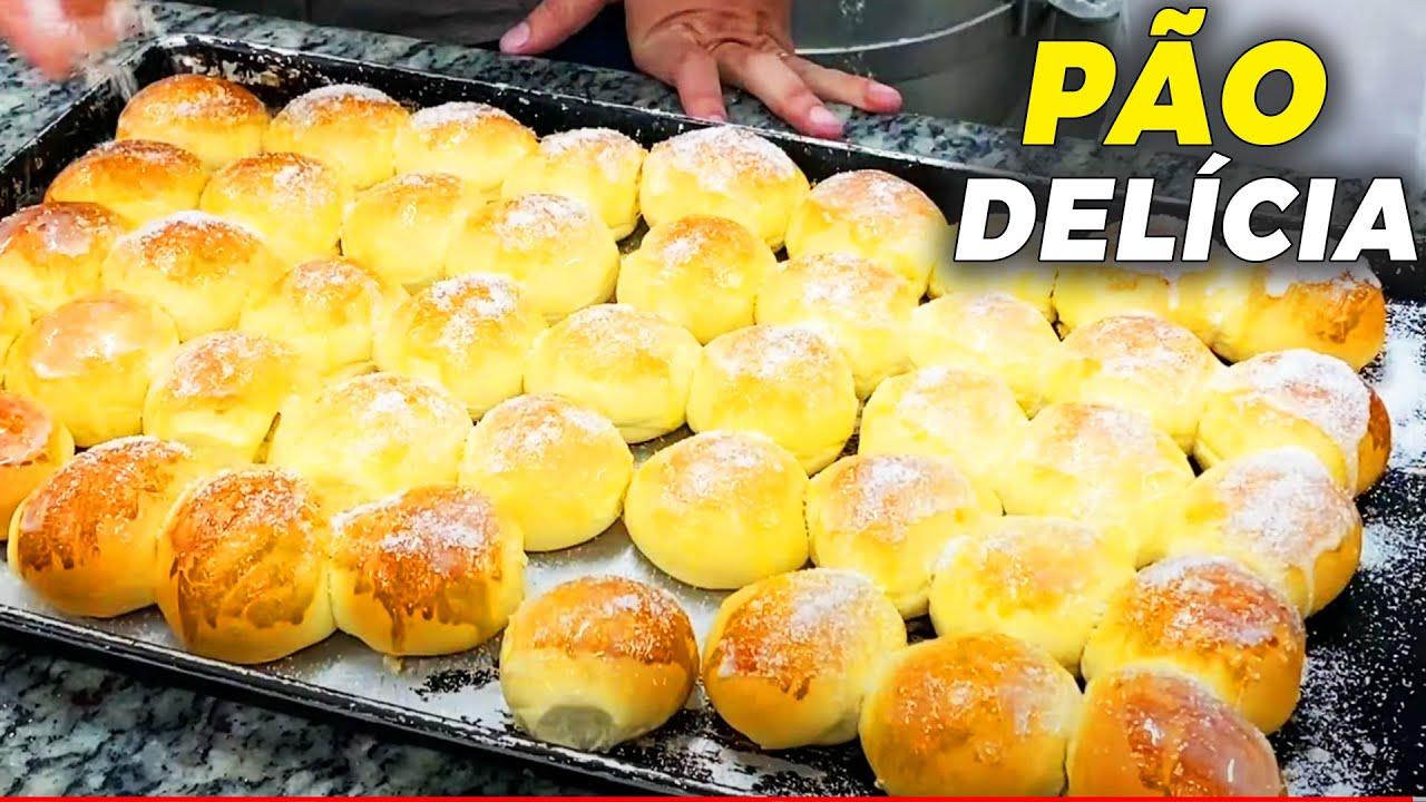 PÃO DELÍCIA RECHEADO - PÃOZINHO DOCE SEM SEGREDOS!   Ewerton Santana
