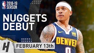 Isaiah Thomas INJURY RETURN Full Highlights Nuggets vs Kings 2019.02.13 - Official Nuggets Debut!