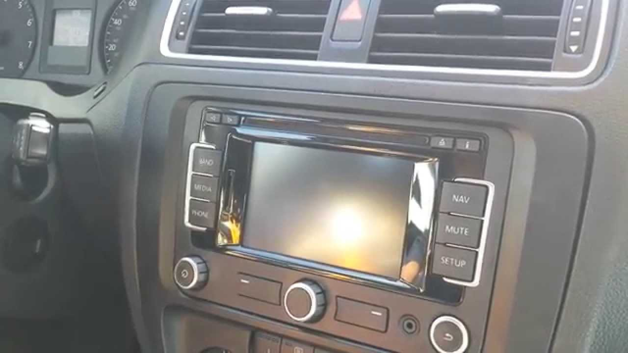 remove radio navigation  vw jetta