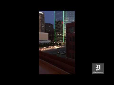 Eyewitness video of downtown Dallas shooting
