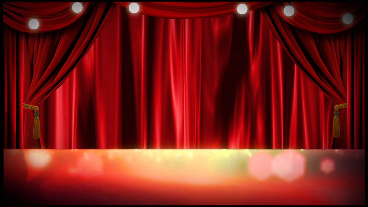 Bl blue stage curtains background - Stage Curtain Design Download Image
