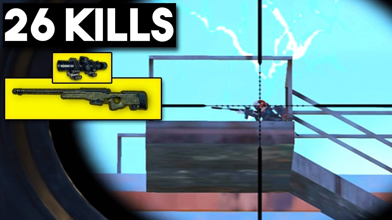 AWM + 8x SCOPE = WIN | 26 KILLS SOLO | PUBG Mobile