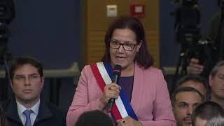 Interventions Mériem Derkaoui - Emanuel Macron   Grand débat