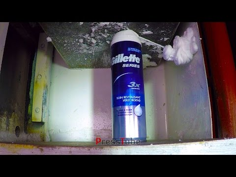Thumbnail: Hydraulic Press - Shaving Foam - The Best A Mann Can Press