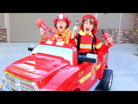 FIRE TRUCK FOR KIDS POWER WHEELS RIDE ON Paw Patrol Marshall Water Rescue Pack Real Life BeAHeroKids