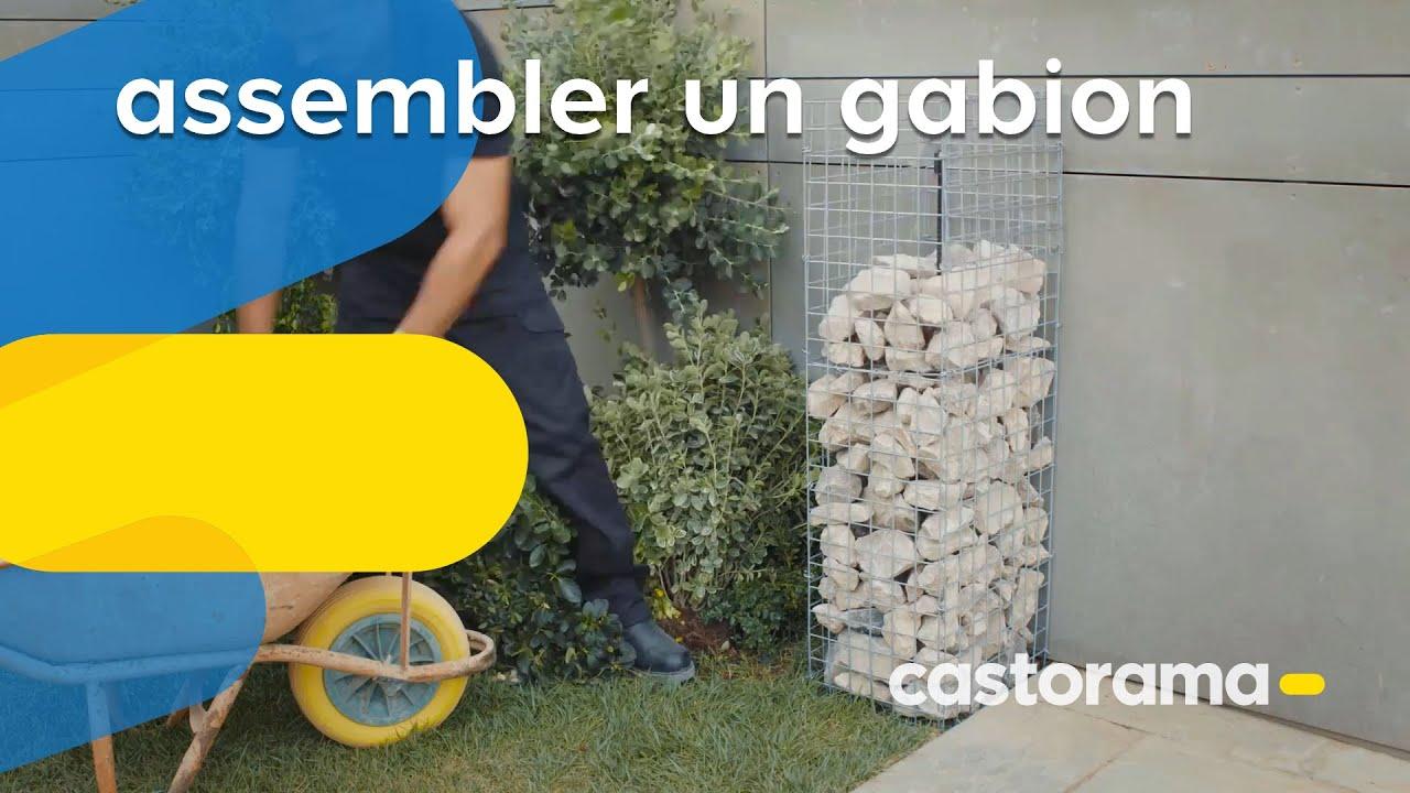 Comment assembler un gabion castorama youtube for Castorama gabion