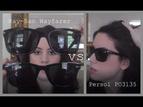 ea0d5ef895 Ray-Ban Wayfarer 2140 vs. Persol PO3135S - YouTube