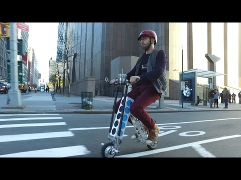 URB-E's silly-looking electric scooter just slayed my commute