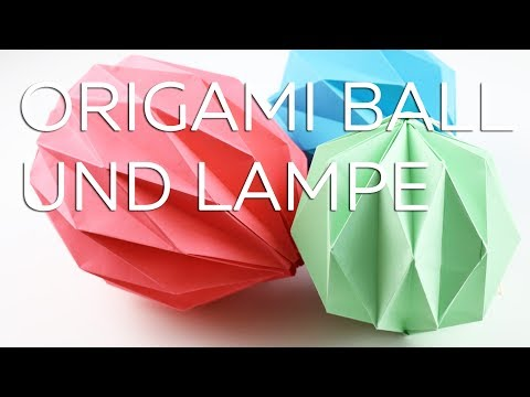 Origami Lampe Origami Ball Anleitung Talude Youtube