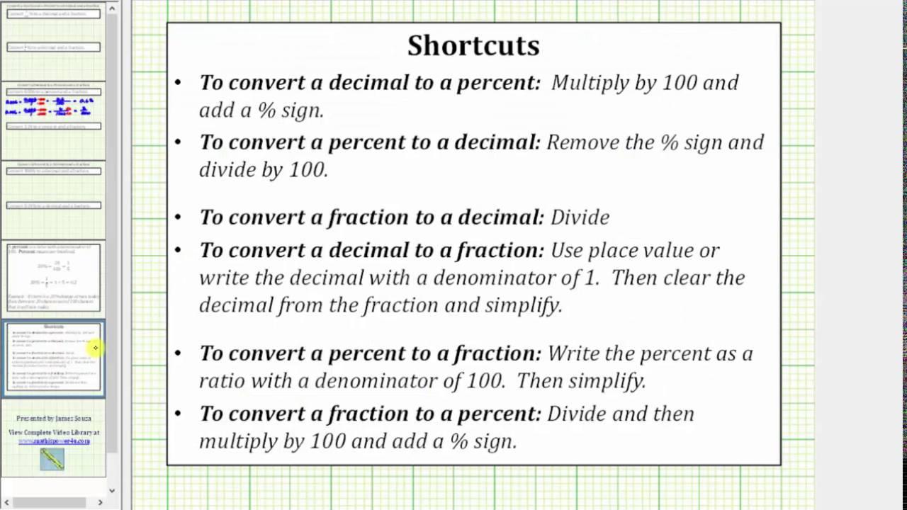 percentage to ratio