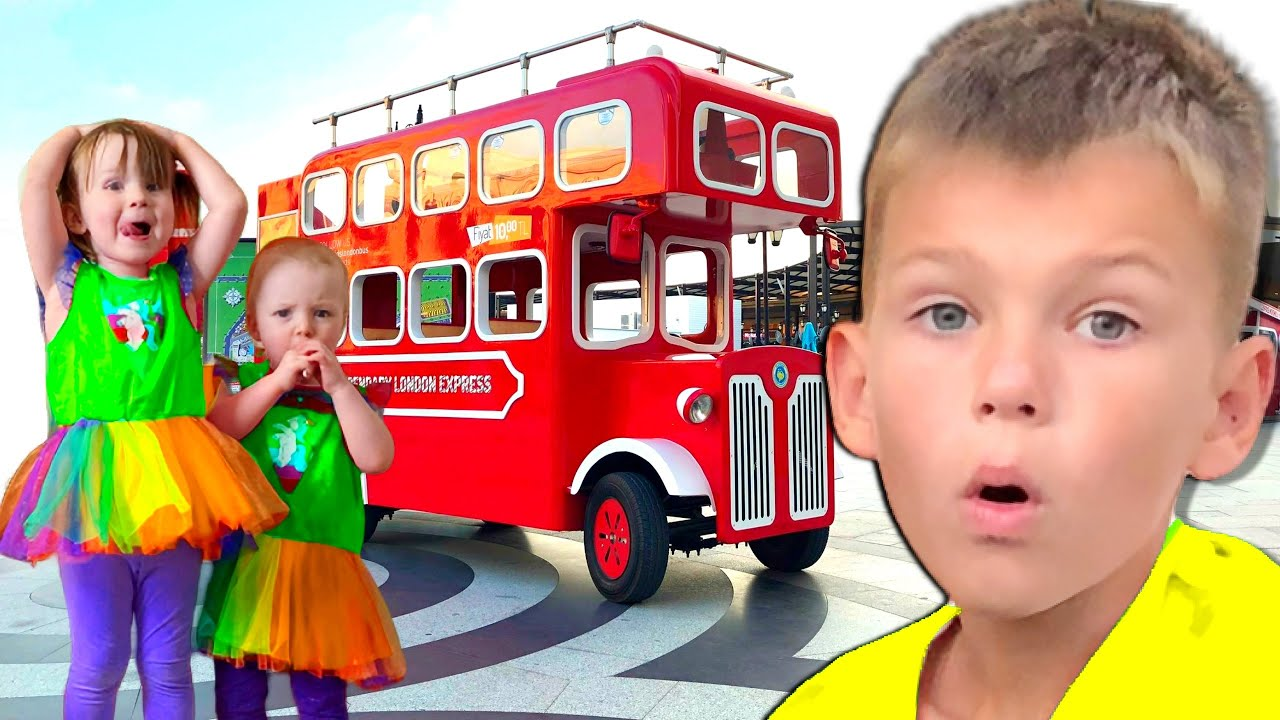 Five Kids Wheels on the bus Song + more Children's Songs and Videos