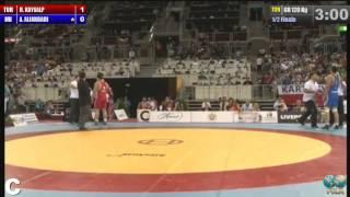 Amir Aliakbari IRI vs Riza Kayaalp TUR 120kg 1 2 Final 2013 World Wrestling Chionships