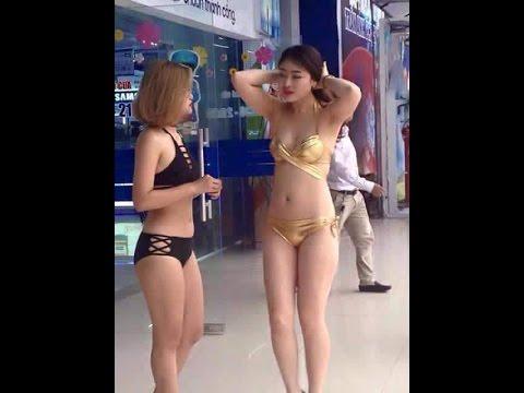 Người mẫu mặc Bikini bán điều hòa nóng nhất mạng xã hội tại Hà Nội