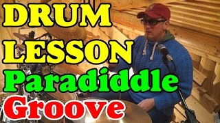 Funk & Jungle Paradiddle Grooves | Drum lesson Урок игры на барабанах Clases de bateria ドラムレッスン