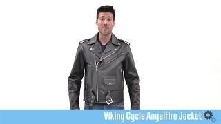 Viking Cycle Angel Fire Leather Motorcycle Jacket - motorcyclehouse.com
