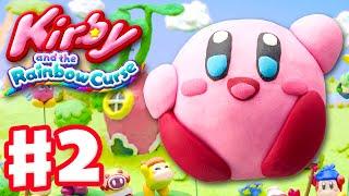 Kirby and the Rainbow Curse - Gameplay Walkthrough Part 2 - Level 1-2 100%! (Nintendo Wii U)