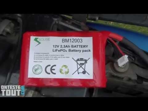 Lunaris2142 teste la batterie Lithium ION Solise BM12003
