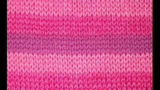 Узор спицами Цветные полоски горизонтальный - pattern spokes colorful stripes