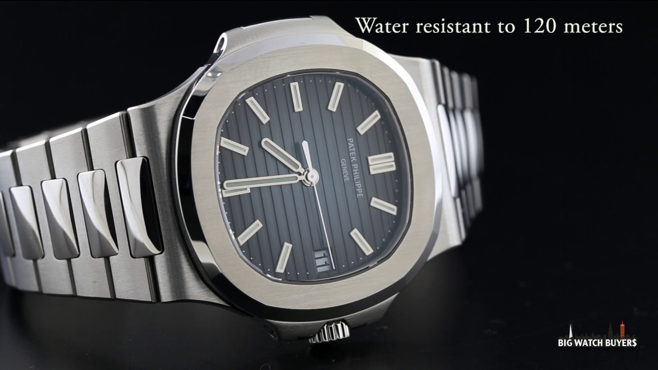 Mens Dial Patek Stainless Steel 5711 Youtube 1a-010 Nautilus Philippe - Watches Black-blue