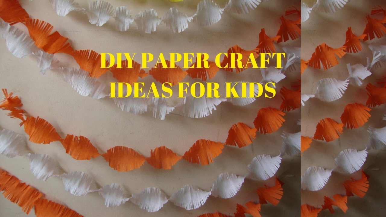 Birthday Decoration Easy crepe paper craft ideas for kids YouTube