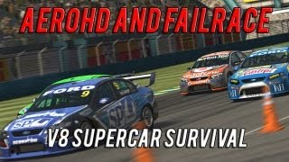Aero and FailRace Play | V8 Supercar Survival Racing