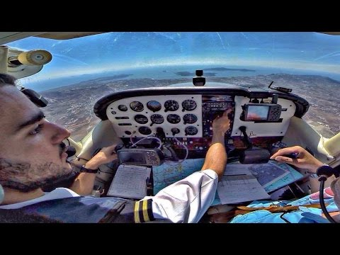 Cessna 172 Ferry Flight - Rhodes Intl to Megara | GoPro Cockpit View | ATC Comms |Takeoff to Landing