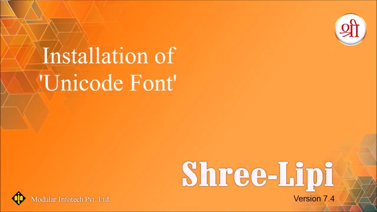 Installation of Unicode Fonts