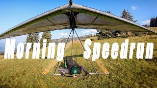 Raw and Uncut Top to Bottom Morning Speedrun #Hanggliding
