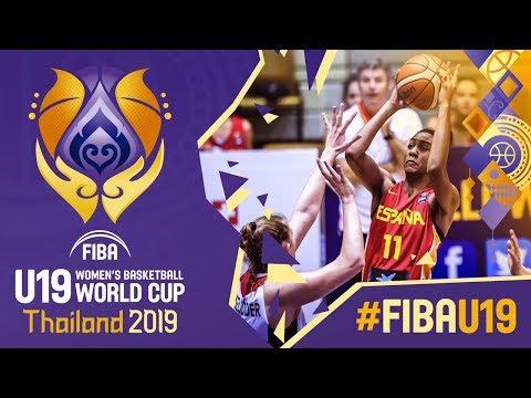 Germany v Spain -  Game - FIBA U19 Women&39;s Basketball World Cup 2019