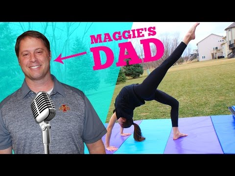 DAD DOES MY VOICEOVER! Backbend Kickover Tutorial Edition!