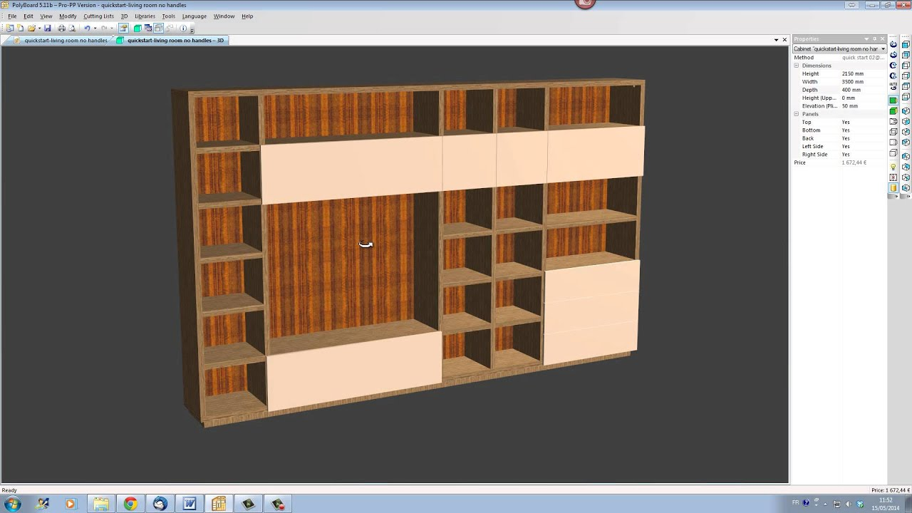 Modify your polyboard design in seconds wood designer for 3d furniture design software free