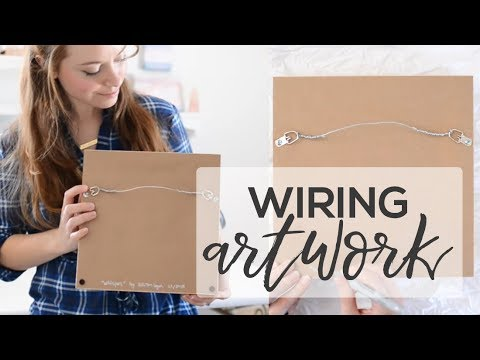 How to Wire A Painting | Finishing the Back of Your Artwork