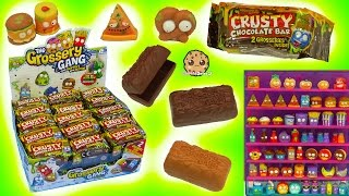 Grossery Gang Full Box 30 Candy Bar Surprise Mystery Blind Bags of Squishy Food Toys