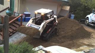 Crazy track loader driver going crazy fast down hill