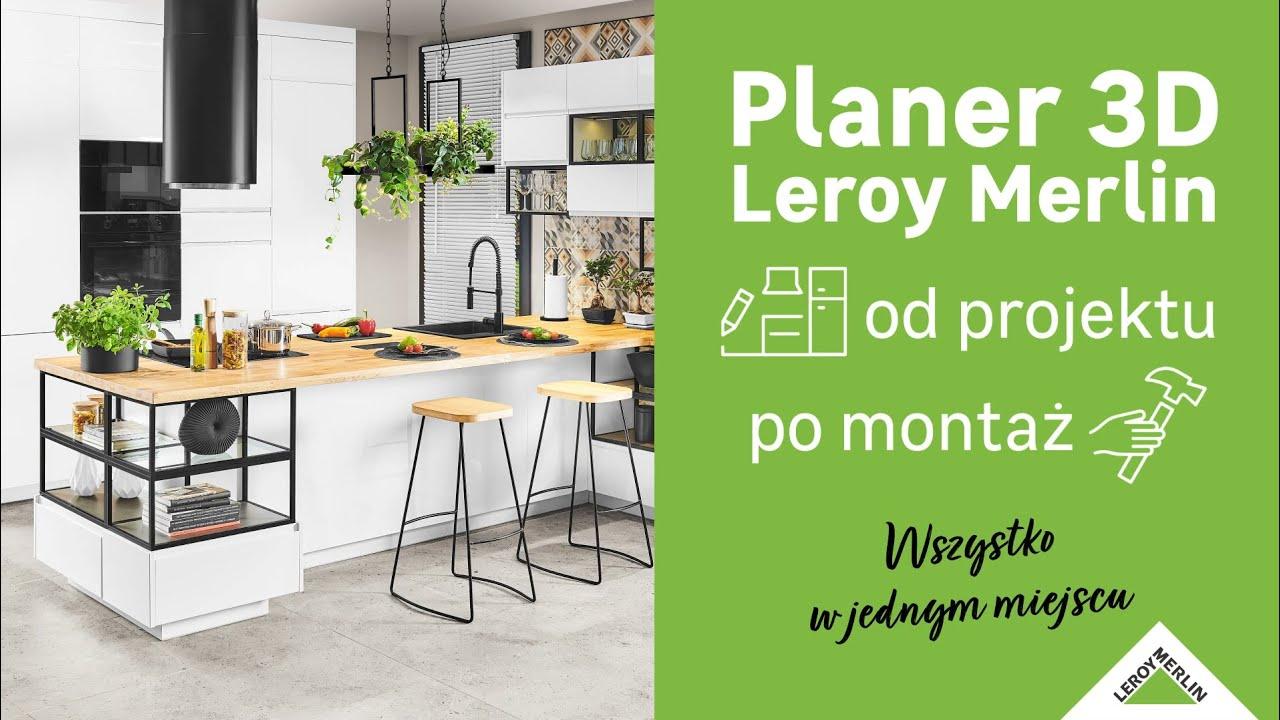 Planer 3d Od Leroy Merlin Zaprojektuj Za Darmo Kuchnie Lazienke Lub Ogrodzenie Youtube
