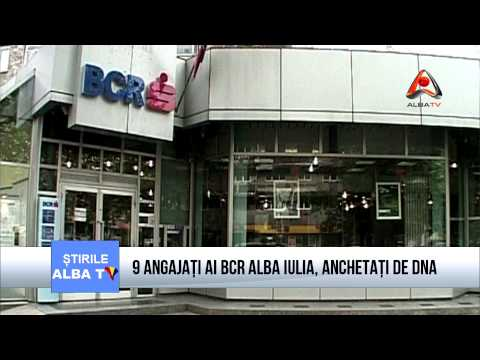 9 ANGAJAȚI AI BCR ALBA IULIA, ANCHETAȚI DE DNA
