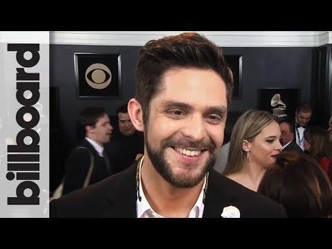 "Thomas Rhett on Bruno Mars, Cardi B, & His ""What if"" Song 'Marry Me' | Grammys 2018"
