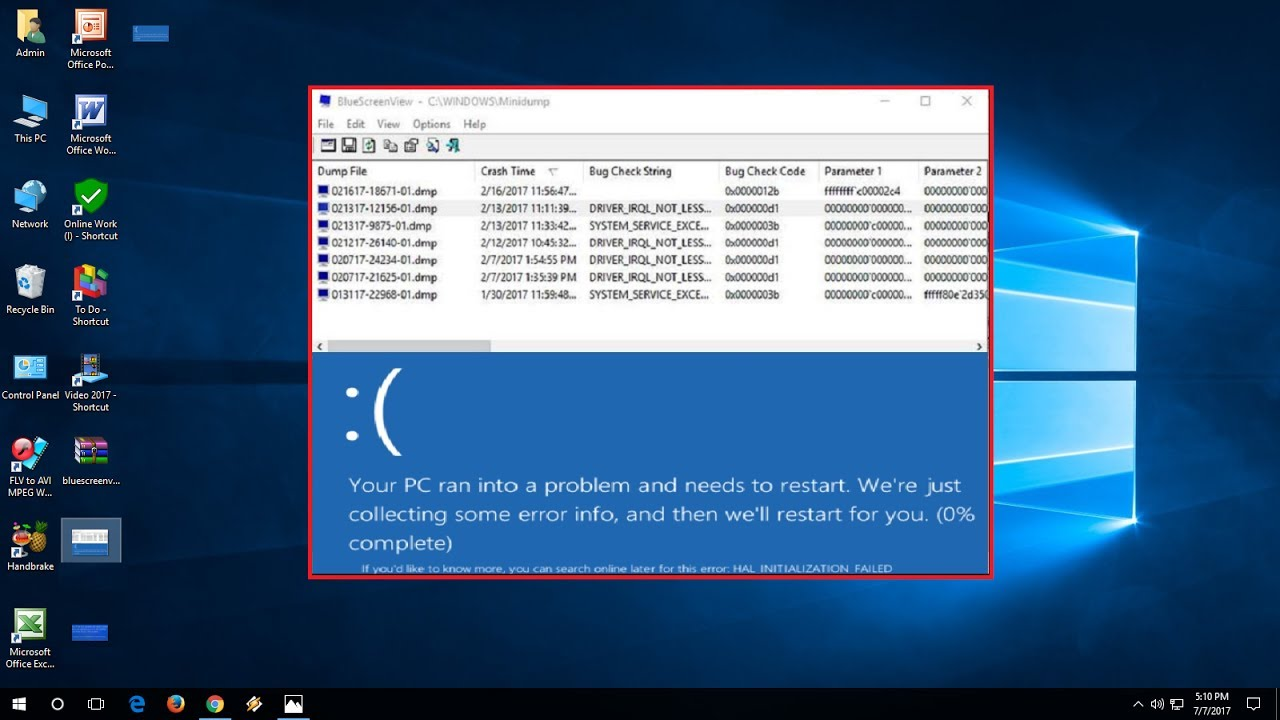 How to Find out BlueScreen Error Issues in Windows 10/8/7 - YouTube