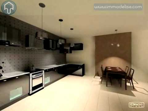 Visite virtuelle 3d cuisine americaine youtube for Cuisine americaine