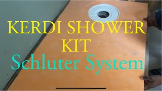 How to install Schluter Kerdi-Shower Tray