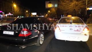 Ավտովթար Երևանում  բախվել են շտապօգնության Ford ը, Mercedes ն ու Nissan տաքսին