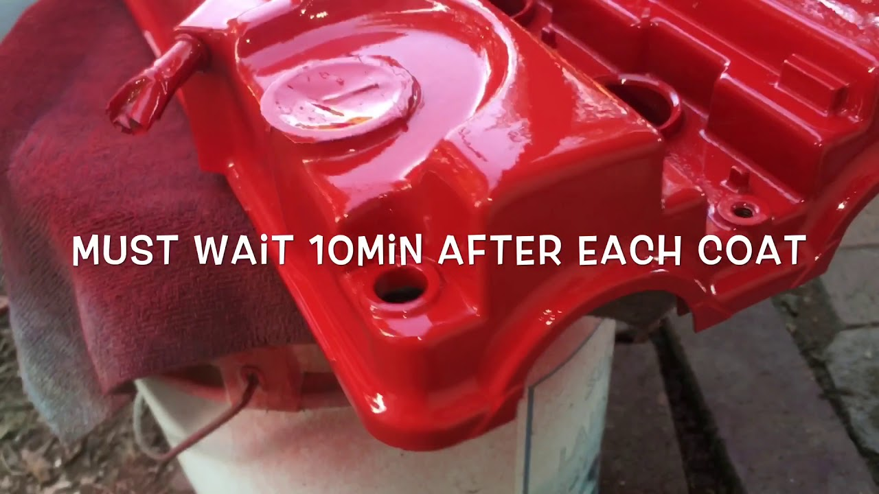 How to paint honda valve cover wrinkle red